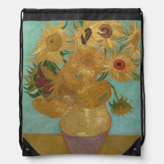 Vincent Van Gogh - Sunflowers Drawstring Bag