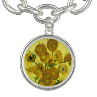 Vincent Van Gogh Sunflowers Fine Art Bracelet