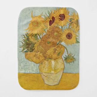 Vincent Van Gogh - Sunflowers - Lovely Floral Art Burp Cloth