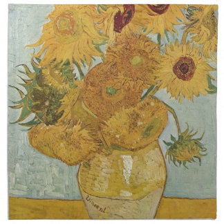 Vincent Van Gogh - Sunflowers - Lovely Floral Art Napkin