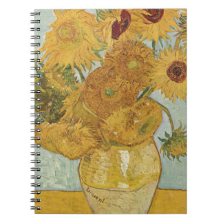 Vincent Van Gogh - Sunflowers - Lovely Floral Art Notebook