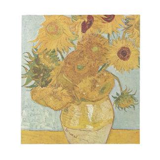 Vincent Van Gogh - Sunflowers - Lovely Floral Art Notepad