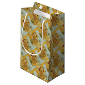 Vincent Van Gogh - Sunflowers - Lovely Floral Art Small Gift Bag