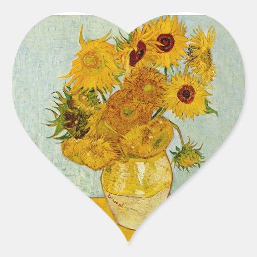Vincent Van Gogh Sunflowers Stickers
