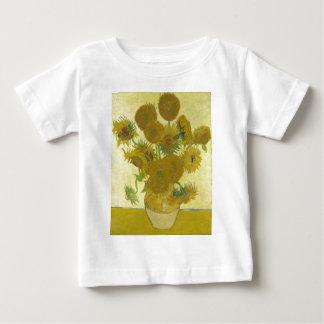 Vincent van Gogh sunflowers vase flowers art Baby T-Shirt