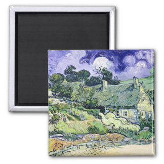 Vincent van Gogh | Thatched cottages at Cordeville Magnet