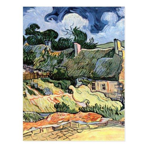Vincent van Gogh - Thatched Cottages at Cordeville Postcards