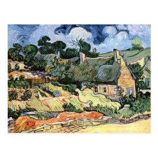 Vincent van Gogh - Thatched Cottages at Cordeville Postcard