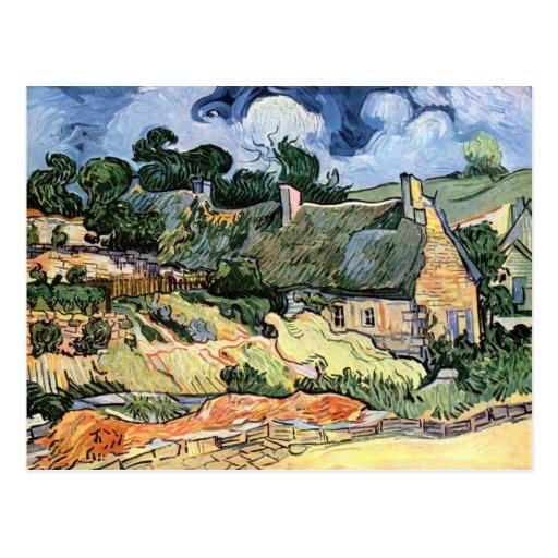 Vincent van Gogh - Thatched Cottages at Cordeville Post Card