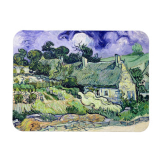 Vincent van Gogh | Thatched cottages at Cordeville Rectangular Photo Magnet