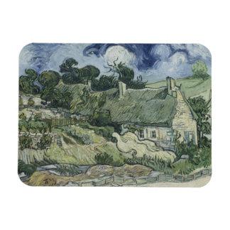 Vincent van Gogh - Thatched Cottages at Cordeville Rectangular Photo Magnet
