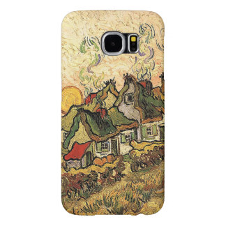 Vincent van Gogh-Thatched Cottages at Cordeville Samsung Galaxy S6 Cases