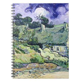 Vincent van Gogh | Thatched cottages at Cordeville Spiral Note Books