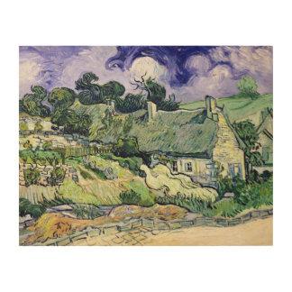 Vincent van Gogh | Thatched cottages at Cordeville Wood Prints