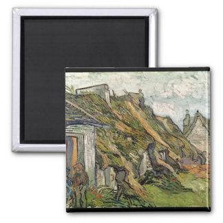 Vincent van Gogh | Thatched Cottages in Chaponval Magnet