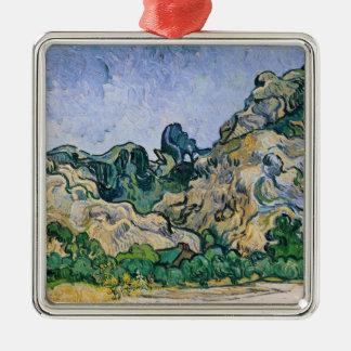 Vincent van Gogh | The Alpilles, 1889 Silver-Colored Square Decoration