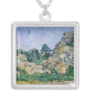 Vincent van Gogh | The Alpilles, 1889 Silver Plated Necklace