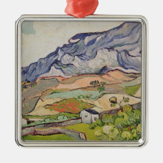 Vincent van Gogh | The Alpilles, 1890 Silver-Colored Square Decoration