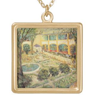 Vincent van Gogh | The Asylum Garden at Arles Gold Plated Necklace