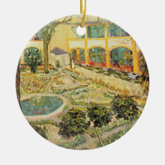 Vincent van Gogh | The Asylum Garden at Arles Round Ceramic Decoration