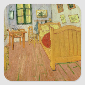 Vincent van Gogh | The Bedroom, 1888 Square Sticker