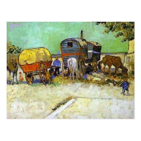 vincent van gogh- the caravans - gypsy camp