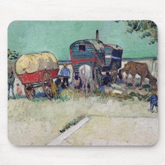 Vincent van Gogh | The Caravans, Gypsy Encampment Mouse Mat