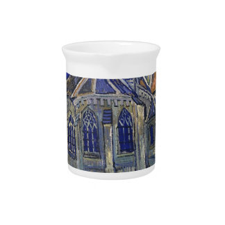 Vincent Van Gogh - The Church at Auvers Beverage Pitcher