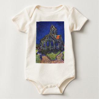 Vincent van Gogh - The Church at Auvers-sur-Oise Baby Bodysuit