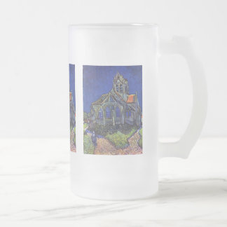 Vincent van Gogh - The Church at Auvers-sur-Oise Frosted Glass Beer Mug