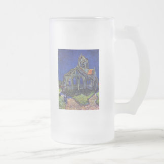 Vincent van Gogh - The Church at Auvers-sur-Oise Frosted Glass Mug