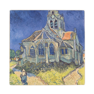 Vincent van Gogh | The Church at Auvers-sur-Oise Maple Wood Coaster