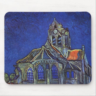 Vincent van Gogh - The Church at Auvers-sur-Oise Mouse Mat