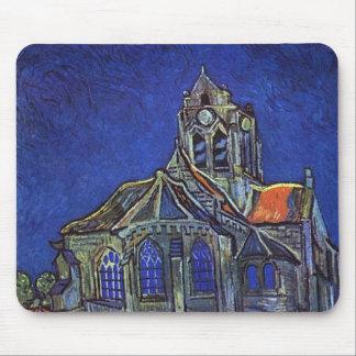 Vincent van Gogh - The Church at Auvers-sur-Oise Mouse Pad