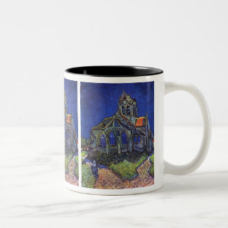 Vincent van Gogh - The Church at Auvers-sur-Oise Two-Tone Coffee Mug