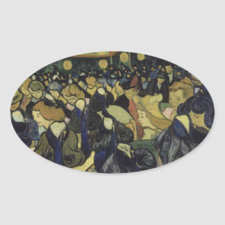 Vincent van Gogh - The Dance Hall in Arles Oval Sticker