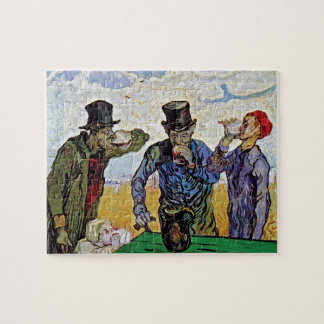 Vincent Van Gogh - The Drinkers - Fine Art Jigsaw Puzzle