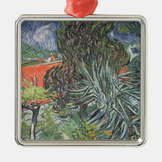 Vincent van Gogh | The Garden of Doctor Gachet Silver-Colored Square Decoration