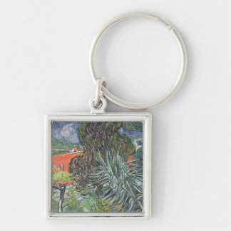 Vincent van Gogh | The Garden of Doctor Gachet Silver-Colored Square Key Ring