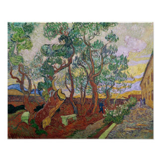 Vincent van Gogh | The Garden of St. Paul Hospital Poster