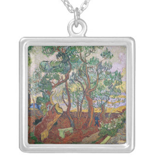 Vincent van Gogh | The Garden of St. Paul Hospital Silver Plated Necklace
