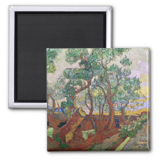 Vincent van Gogh | The Garden of St. Paul Hospital Square Magnet