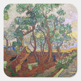 Vincent van Gogh | The Garden of St. Paul Hospital Square Sticker