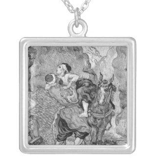 Vincent van Gogh | The Good Samaritan Silver Plated Necklace