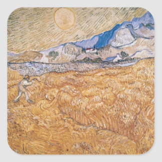 Vincent van Gogh | The Harvester Square Sticker