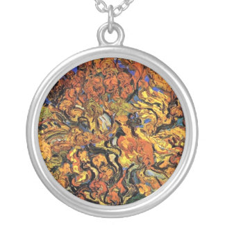 Vincent Van Gogh - The Mulberry Tree Fine Art Silver Plated Necklace