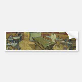 Vincent Van Gogh The Night Cafe Painting Art Work Bumper Sticker