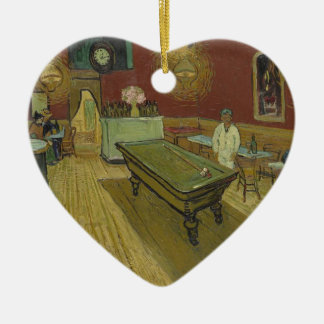 Vincent Van Gogh The Night Cafe Painting Art Work Ceramic Heart Decoration
