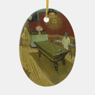 Vincent Van Gogh The Night Cafe Painting Art Work Ceramic Oval Decoration