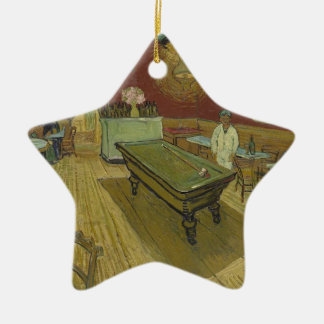 Vincent Van Gogh The Night Cafe Painting Art Work Ceramic Star Decoration